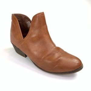 Faded Glory Faux Leather Booties Brown